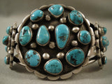 Big Old Vintage Navajo Bisbee Turquoise Native American Jewelry Silver Bracelet-Nativo Arts