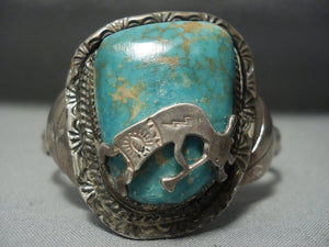 Big Vintage Navajo Royston Turquoise Sterling Native American Jewelry Silver Bracelet-Nativo Arts