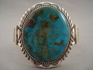 Bulbous Turquoise Navajo Native American Jewelry Silver Bracelet-Nativo Arts