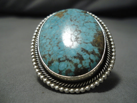 Important Navajo Ricky Martinez Spiderweb Turquoise Native American Ring