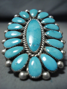 Very Important Alice Quam Vintage Native American Zuni Turquoise Sterling Silver Ring