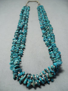 Vibrant Vintage Santo Domingo Royston Turquoise Necklace Native American Old