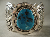 Ceremonial Dance Vintage Navajo Native American Jewelry Silver Bracelet-Nativo Arts