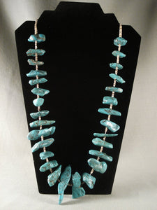 Chunky Old Navajo Native American Jewelry jewelry Turquoise Nugget Necklace-Nativo Arts