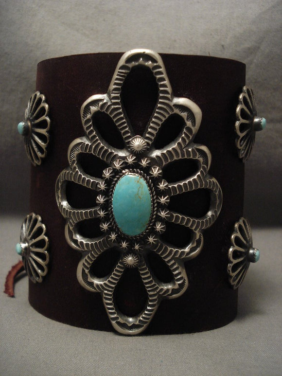 Colossal Navajo Turquoise Native American Jewelry Silver Ketoh Bracelet-Nativo Arts