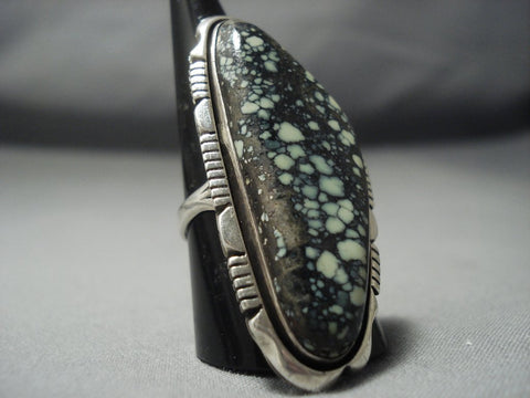 Colossal Vintage Hopi/ Navajo Turquoise Sterling Native American Jewelry Silver Ring Old-Nativo Arts