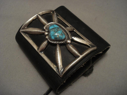 Colossal Vintage Navajo Bisbee Turquoise Native American Jewelry Silver Ketoh Bracelet-Nativo Arts
