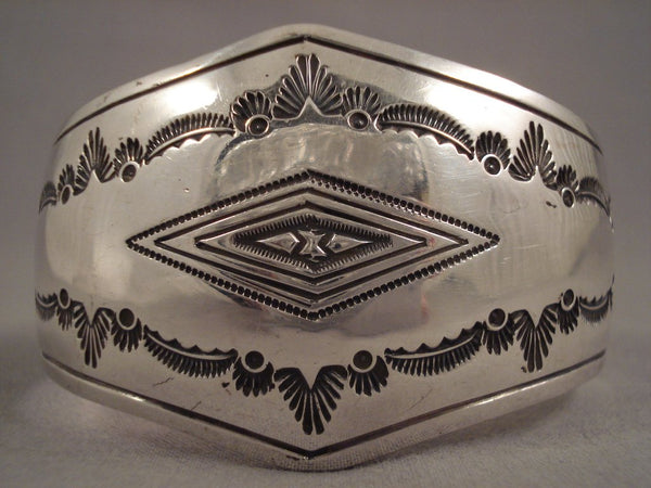 Convex Vintage Navajo Sterling Native American Jewelry Silver Bracelet Old Pawn