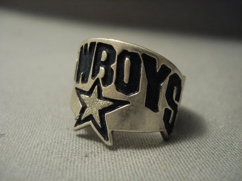 Cowboys Vintage Navajo Sterling Native American Jewelry Silver Ring!-Nativo Arts