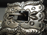 Best Vintage Native American Navajo Wear In Links Sterling Silver Concho Belt- Ray Adakai