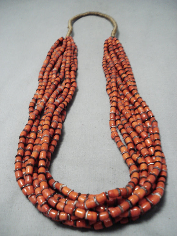 Newsworthy Santo Domingo Hand Spun Bead Necklace Native American