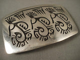 Dancing Kokopelli Vintage Hopi Native American Jewelry Silver Buckle-Nativo Arts