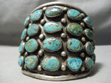 Best Vintage Native American Navajo Royston Turquoise Row Bracelet Old Sterling Silver