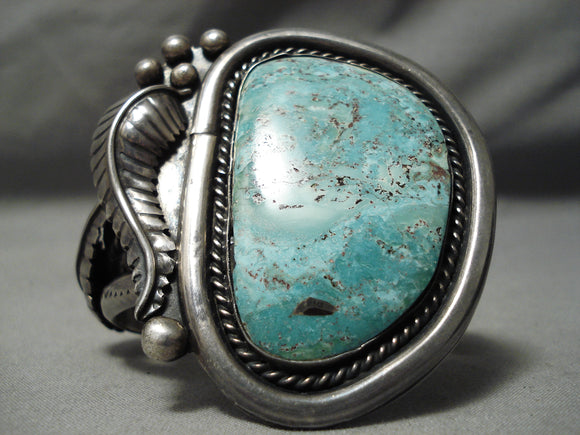 One Of The Best Vintage Native American Navajo Carico Lake Turquoise Sterling Silver Bracelet