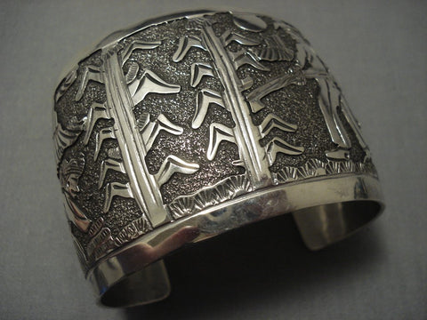 Details Details! Vintage Navajo Sterling Native American Jewelry Silver Bracelet Old-Nativo Arts