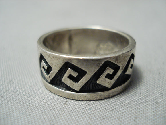 Marvelous Vintage Hopi Sterling Silver Ring Native American