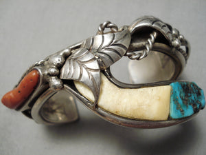 One Of Best Vintage Native American Navajo Daniel Benally Turquoise Sterling Silver Bracelet