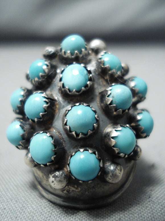 Incredible Native American Navajo Sleeping Beauty Turquoise Sterling Silver Ring
