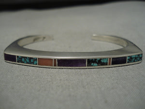 Amazing Ray Tracey Vintage Navajo Sterling Silver Native American Bracelet