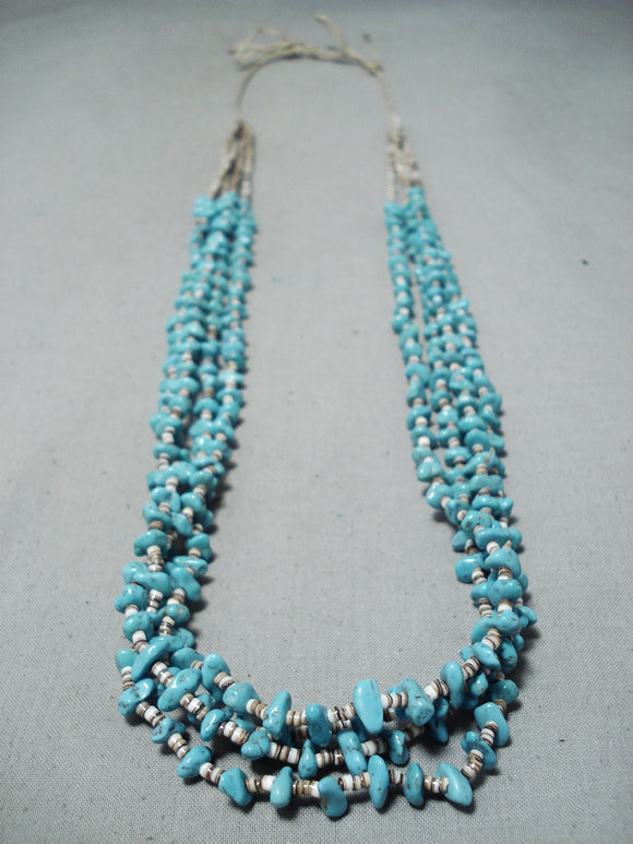 Beautiful Vintage Navajo Turquoise Necklace Native American Old