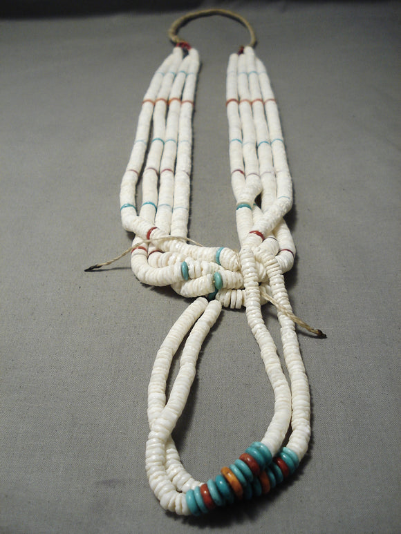 One Of The Best Vintage Native American Navajo Santo Domingo Native American Navajo Turquoise Heishi Necklace