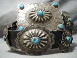 Best Vintage Native American Navajo Cowboy Hat Turquoise Sterling Silver Concho Belt Old