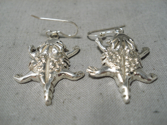 Wonderful Ann Miller Navajo Sterling Silver Earrings Native American