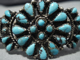 Beautiful Vintage Navajo Turquoise Sterling Silver Native American Bracelet Old