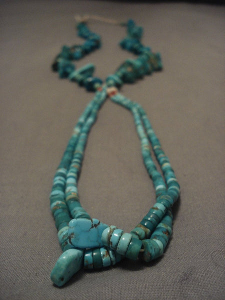 Earlier 1900's Vintage Santo Domingo Turquoise Necklace Old