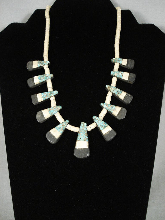 Early 1900's Santo Domingo Turquoise Necklace-Nativo Arts