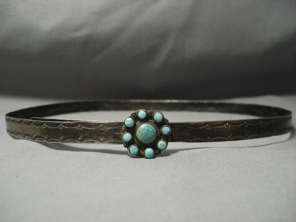 Early 1900's Vintage Navajo Native American Jewelry jewelry Hand Hammered Concho Belt Hat Band Hatband-Nativo Arts