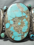 One Of The Best Ever Vintage Native American Navajo #8 Turquoise Sterling Silver Bracelet