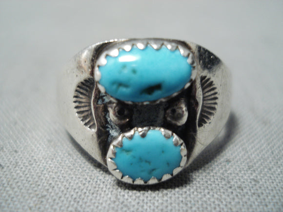 Dazzling Vintage Navajo Native American Sterling Silver Ring Old