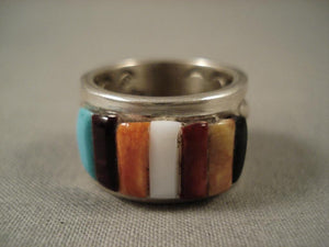Extremely Detailed Vintage Navajo Adakai Native American Jewelry Silver Ring-Nativo Arts