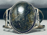 Rare Stars Of The Sky Stone Vintage Native American Navajo Sterling Silver Bracelet