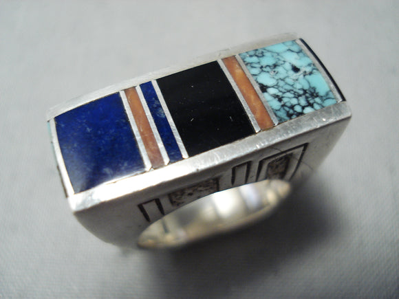 One Of The Best Vintage Native American Navajo Ray Tracey Turquoise Sterling Silver Ring