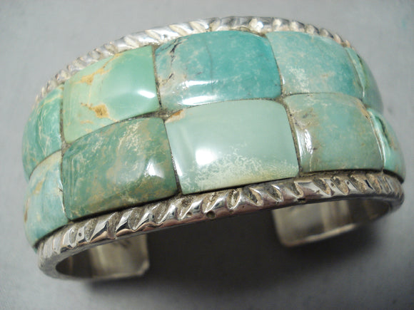 Amazing San Felipe Native American Royston Turquoise Sterling Silver Bracelet