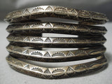 Early 1900's Vintage Navajo Sterling Silver Native American Bracelet Old
