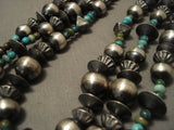 Fabulous Vintage Navajo 'Wrap Around' Sterling Native American Jewelry Silver Turquoise Necklace-Nativo Arts