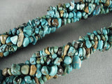 Fabulpus Vintage Santo Domingo Natural Turquoise Necklace-Nativo Arts