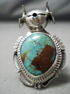 Magnificent Vintage Native American Navajo Royston Turquoise Sterling Silver Ring