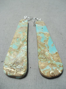 Native American Unbelievable Santo Domingo Royston Turquoise Sterling Silver Earrings