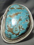 One Of Best Vintage Native American Navajo Early Deposit Turquoise Sterling Silver Bracelet