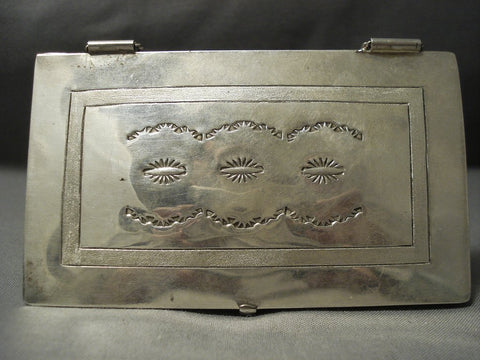 For Businesses! Vintage Navajo Sterling Native American Jewelry Silver Business Card Case-Nativo Arts
