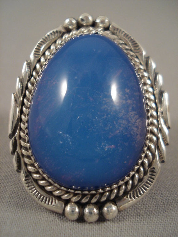 Gigantic Important Tso Family 'Big Lapis' Native American Jewelry Silver Ring-Nativo Arts