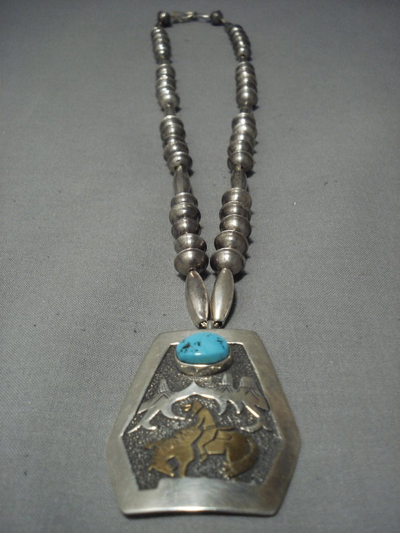 Guaranteed Authentic Vintage Navajo Thomas Singer Native American Jewelry Silver Necklace Old-Nativo Arts
