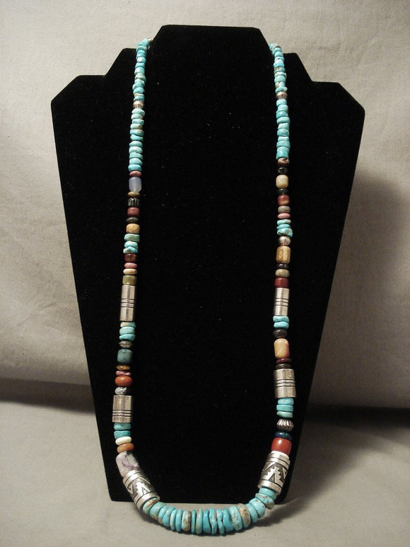 Higher Quality And More Rare Vintage Thomas Singer #8 Turquoise Necklace-Nativo Arts