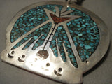 Huge 1960's Vintage Navajo Singer Family Style Native American Jewelry Silver Turquoise Necklace-Nativo Arts