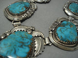 Huge & Heavy!! Vintage Navajo Royston Turquoise Sterling Native American Jewelry Silver Bracelet-Nativo Arts