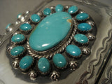 Huge Modernistic Vintage Navajo Turquoise Native American Jewelry Silver Ketoh Bracelet-Nativo Arts